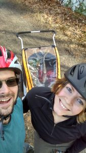 My Wife karisa and I go biking on my time off