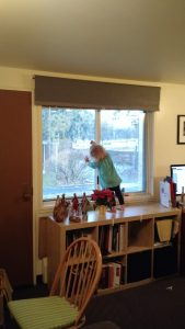 We encourage all kinds of art at home, we draw on all our windows!